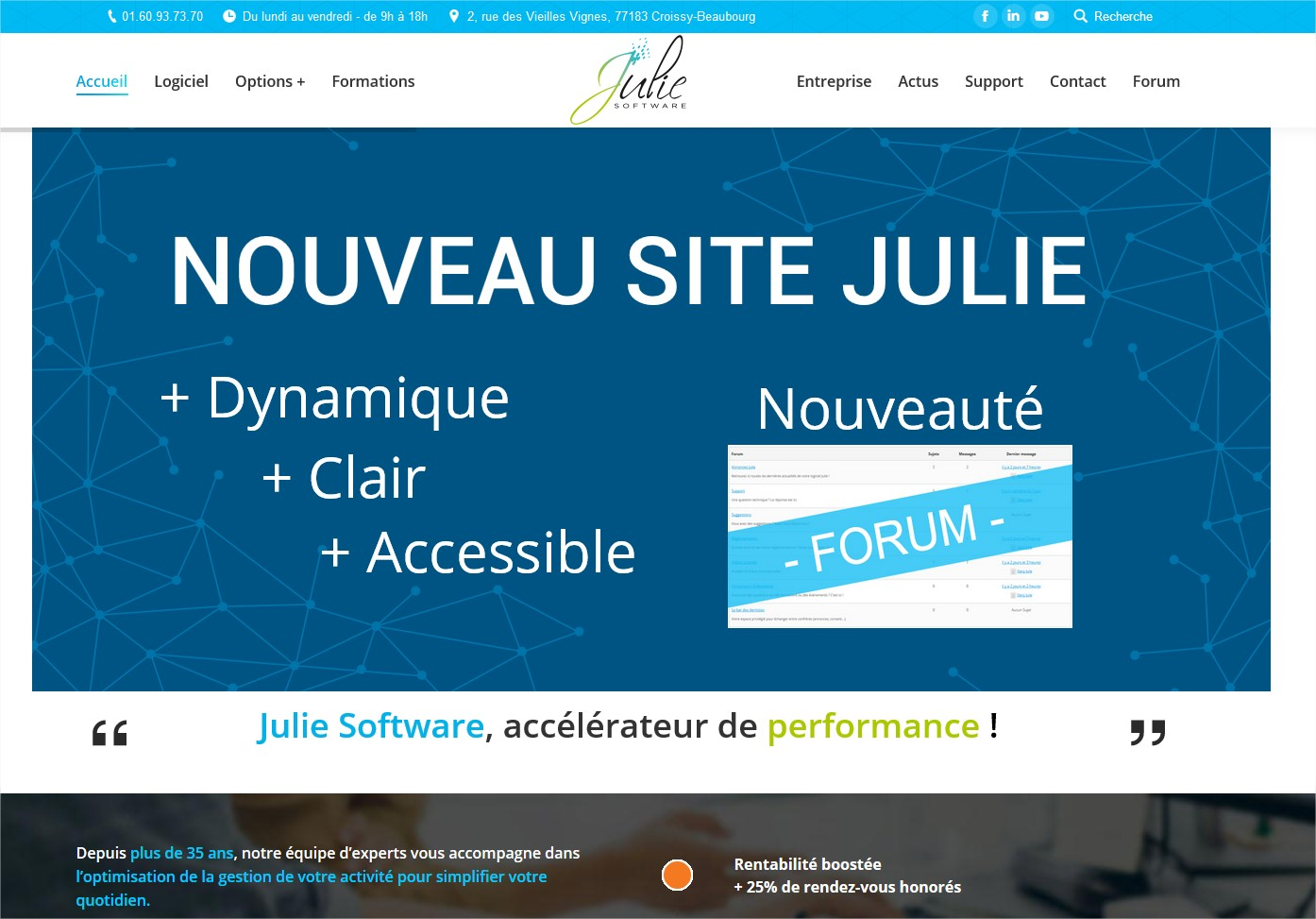 Nouveau site internet Julie Software.
